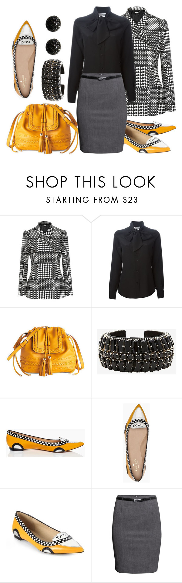 """Taxi!"" by mmmartha ❤ liked on Polyvore featuring Mode, Alexander McQueen, Moschino, Melie Bianco, Barbara Bui, Kate Spade, H&M und Kenneth Jay Lane"