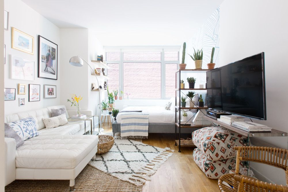 This Nyc Apartment Is All About The Art Domino Studio Apartment Furniture Studio Apartment Decorating Apartment Furniture