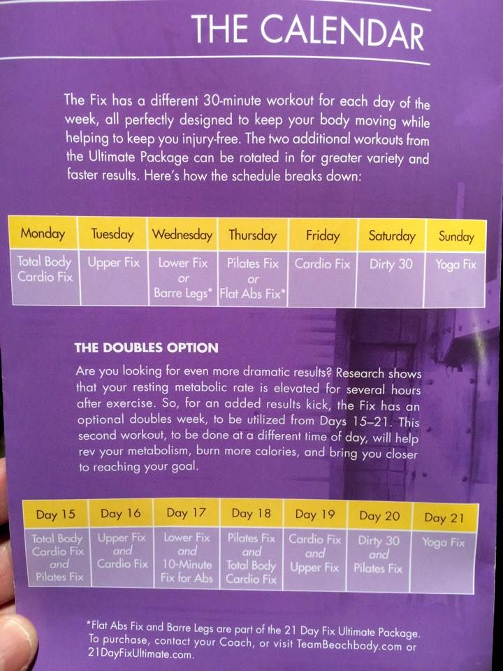 This is a graphic of Accomplished 21 Day Fix Workout Schedule Printable