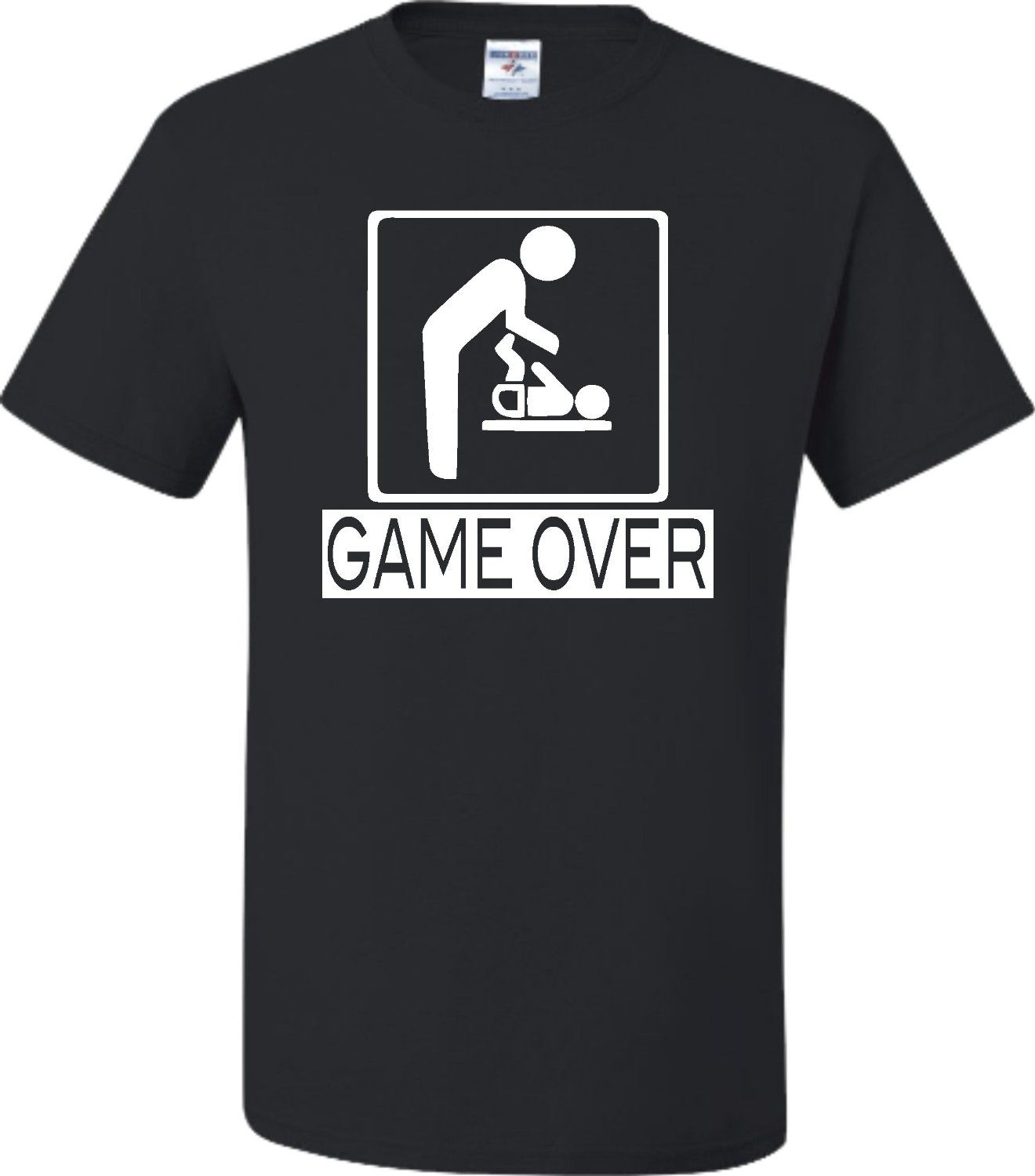31ad27fb Adult Game Over New Dad New Father Funny T-Shirt | MEMES | Adult ...