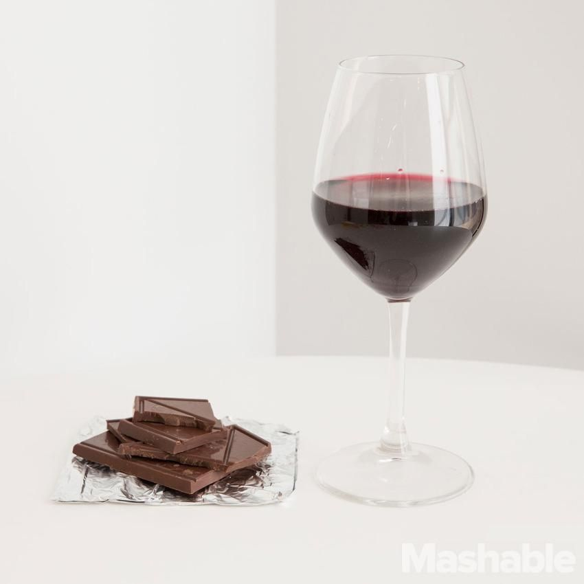 Pair dark chocolate with a California Zinfandel for a delicious treat.