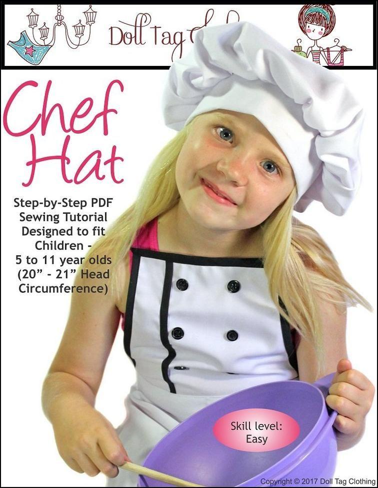 Child Chef Hat Pattern : child, pattern, Sewing, Pattern:, Children's, Kids,, Tutorials,, Chefs