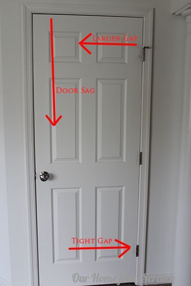 How To Fix A Sagging Door >> Fix A Sagging Door In 5 Minutes Flat Home Fix Home Repair