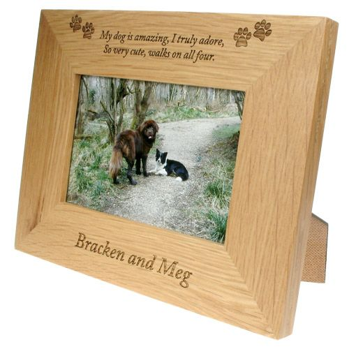 Frame laser engraved for a special pet. We can personalize frames ...