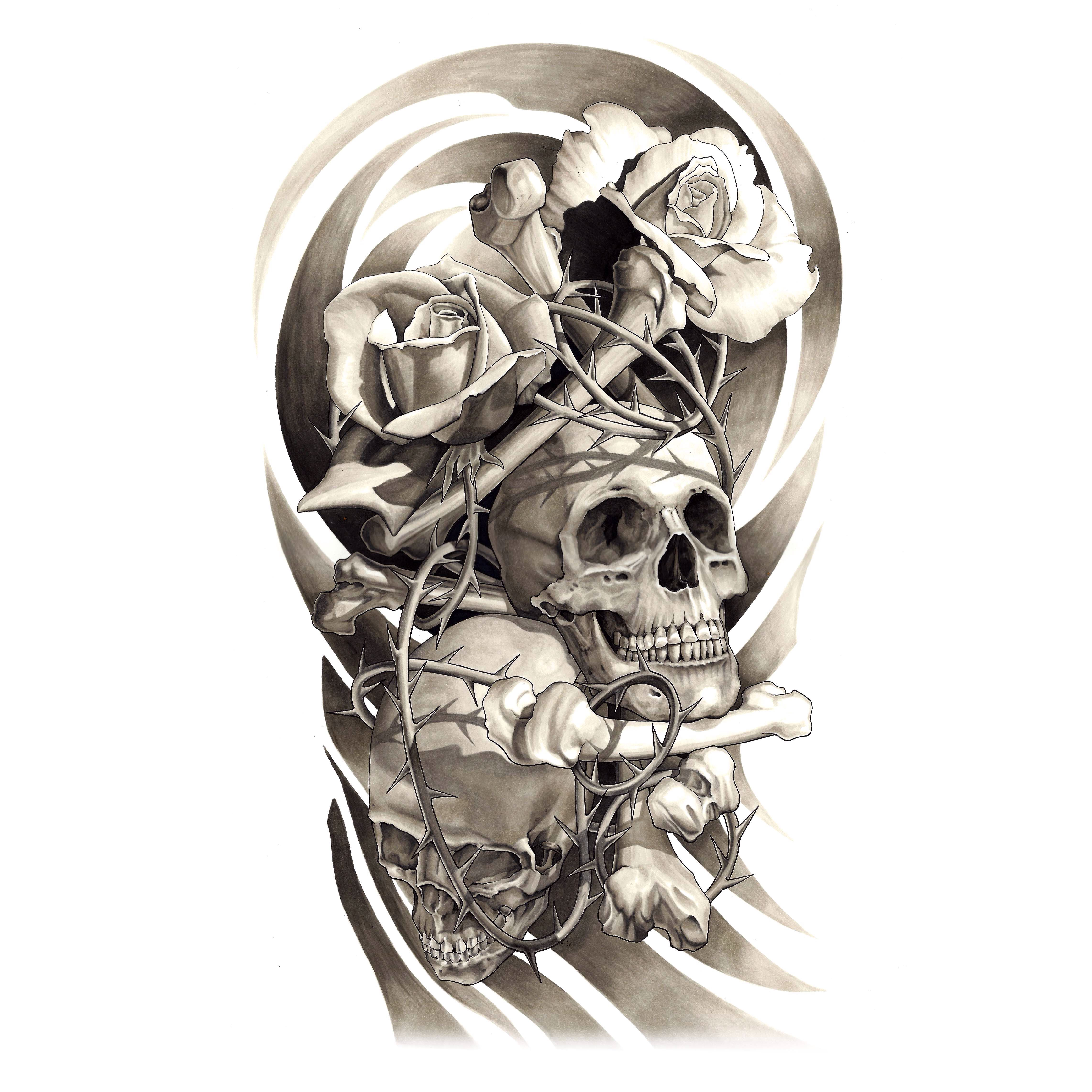 Skulls Tattoo Design Wallpaper: Pin By Mirza Ribic On Tattoo Ideas