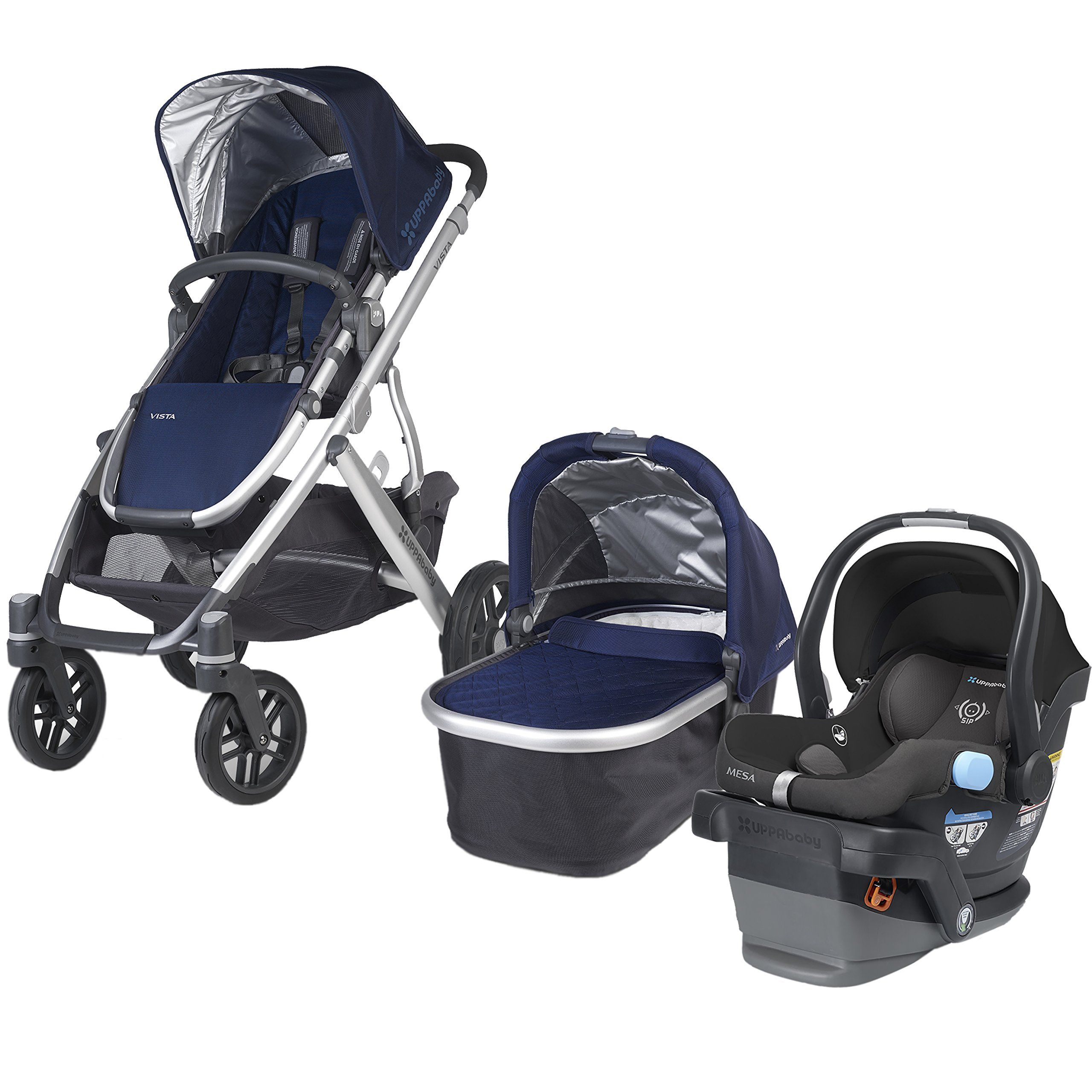 UPPAbaby Vista Travel System Taylor 2015 Includes Stroller And Bassinet In Infant Car SeatsSilver