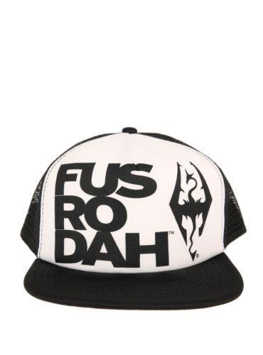 d4eb93d4da05 New Black & White The Elder Scrolls V: Skyrim Trucker Hat FUS RO DAH Dragon  Gift