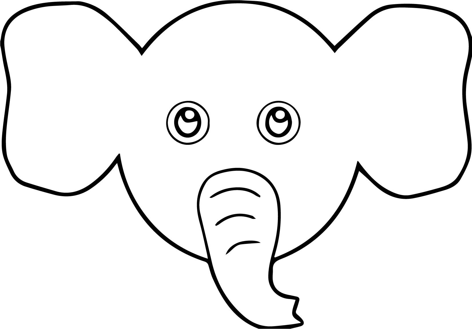 Elephant Face Cartoon Coloring Page Cartoon Coloring Pages