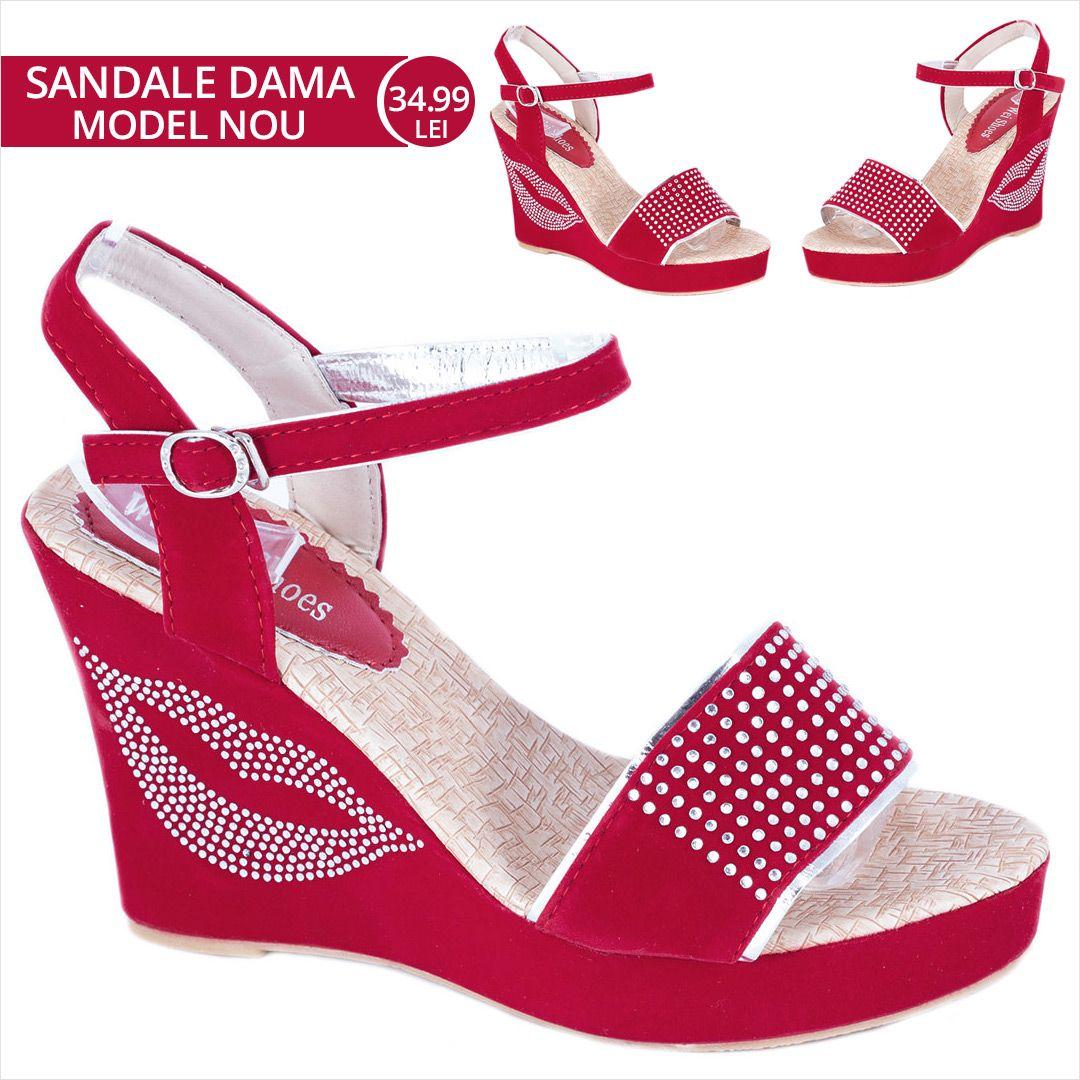 Sandale Rosii Cu Platforma W 51r La 34 99lei Zibra Ro Heels Shoes Fashion