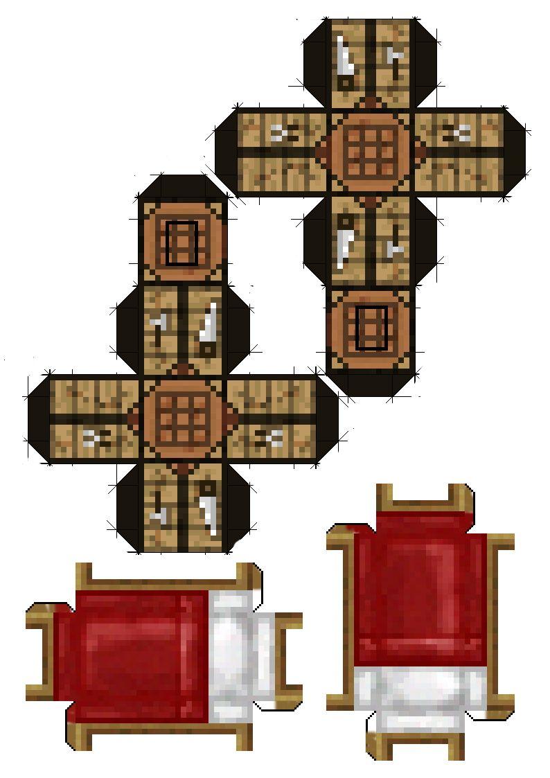 Minecraft Con Papel Dejalos En Tu Escritorio Armables De
