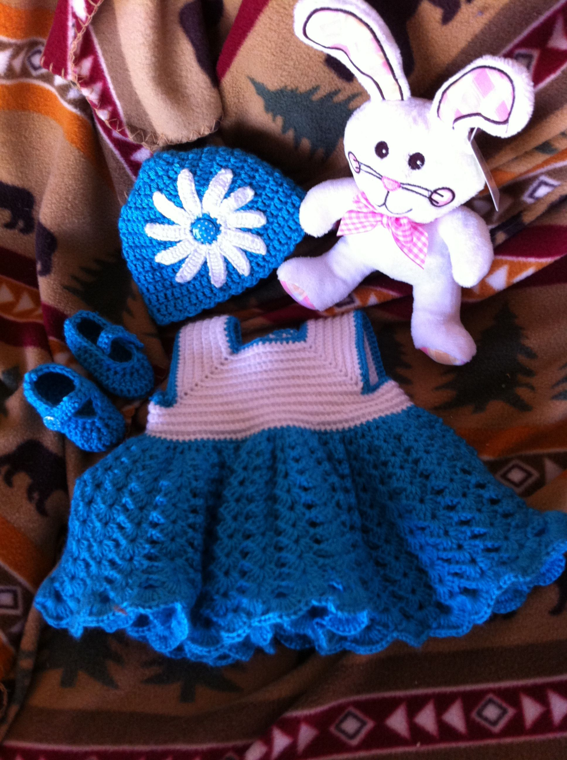 Crocheted Easter Outfit