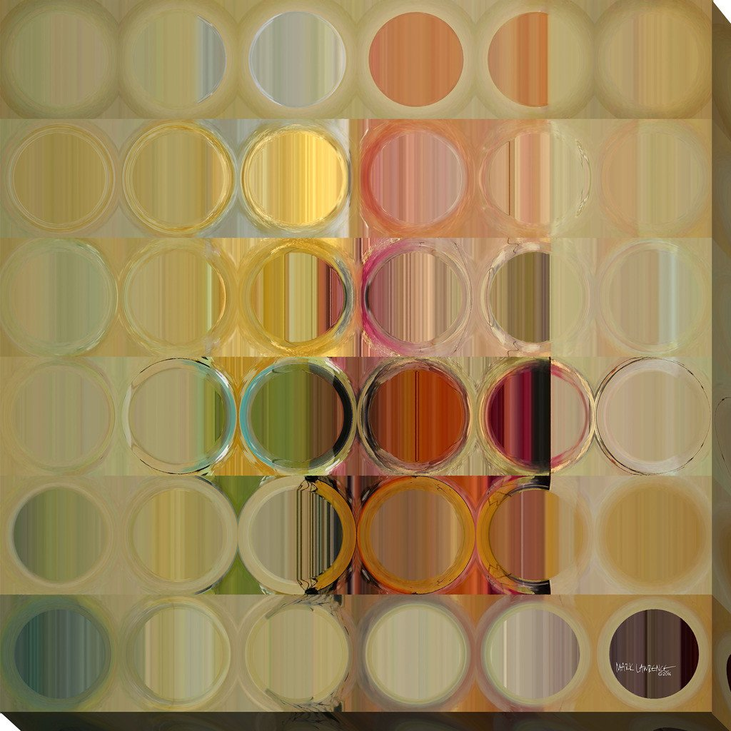 "Mark Lawrence ""Circles and Squares #49"" Giclee Print Canvas Wall Art"