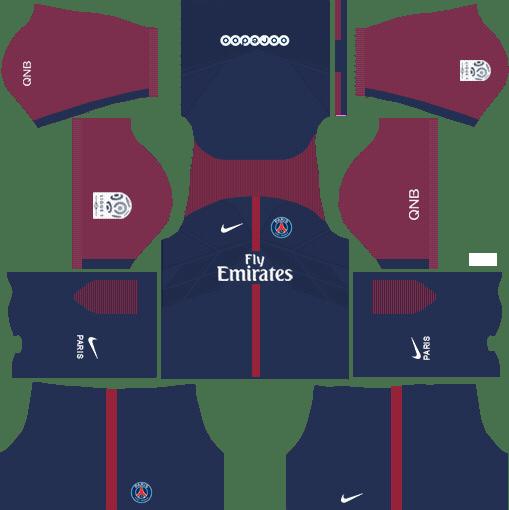 1fc0ce095b6 Dream League Soccer Kits PSG 2017-2018 {Paris Saint Germain} | PSG ...