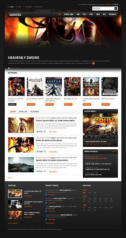 Games Portal WordPress Themes by Mercury | Gaming Website ...