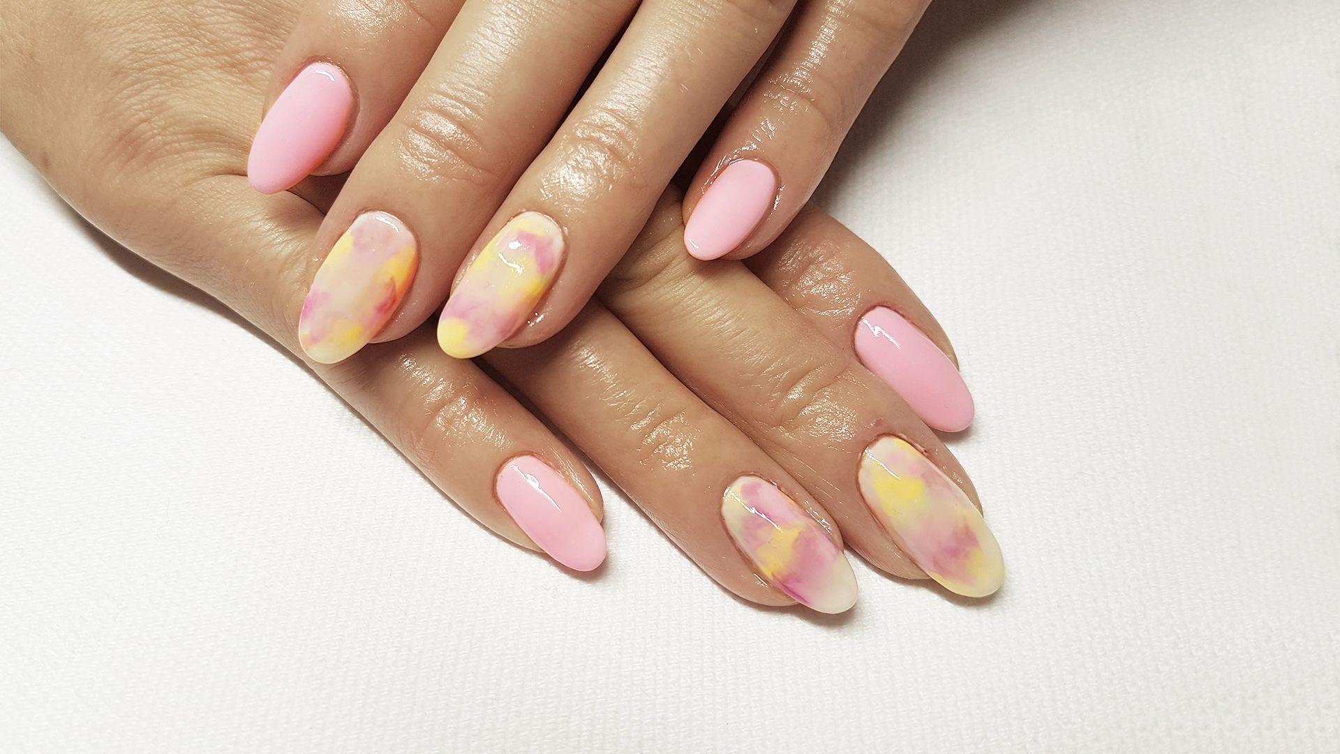 Watercolor Pastel Nails Nails Colorful Nailart Paznokcie