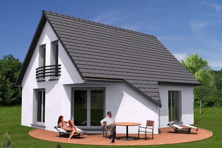 Modèle de #construction de #maison Emoria Vue extérieure Projets - modele de construction maison