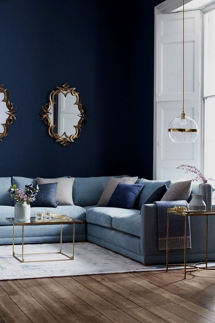 apartment decorating   Navy sofa living room, Blue living room decor, Living room decor apartment