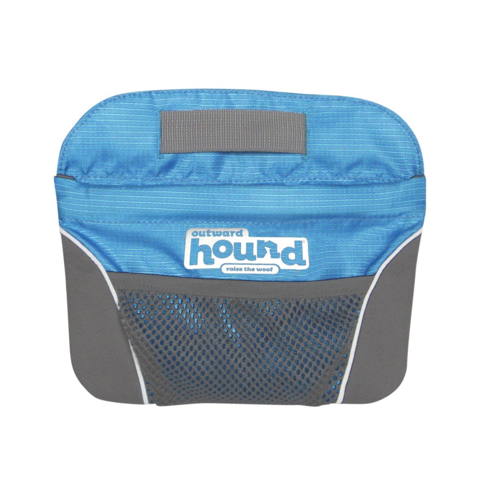 Outward hound treatbag quick access blue dog treat
