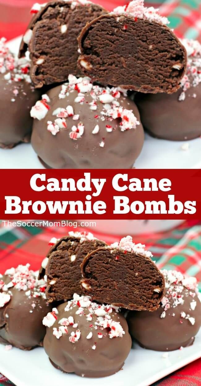 Candy Cane Brownie Bombs Learn how to make these rich fudge brownies coated in milk chocolate and c
