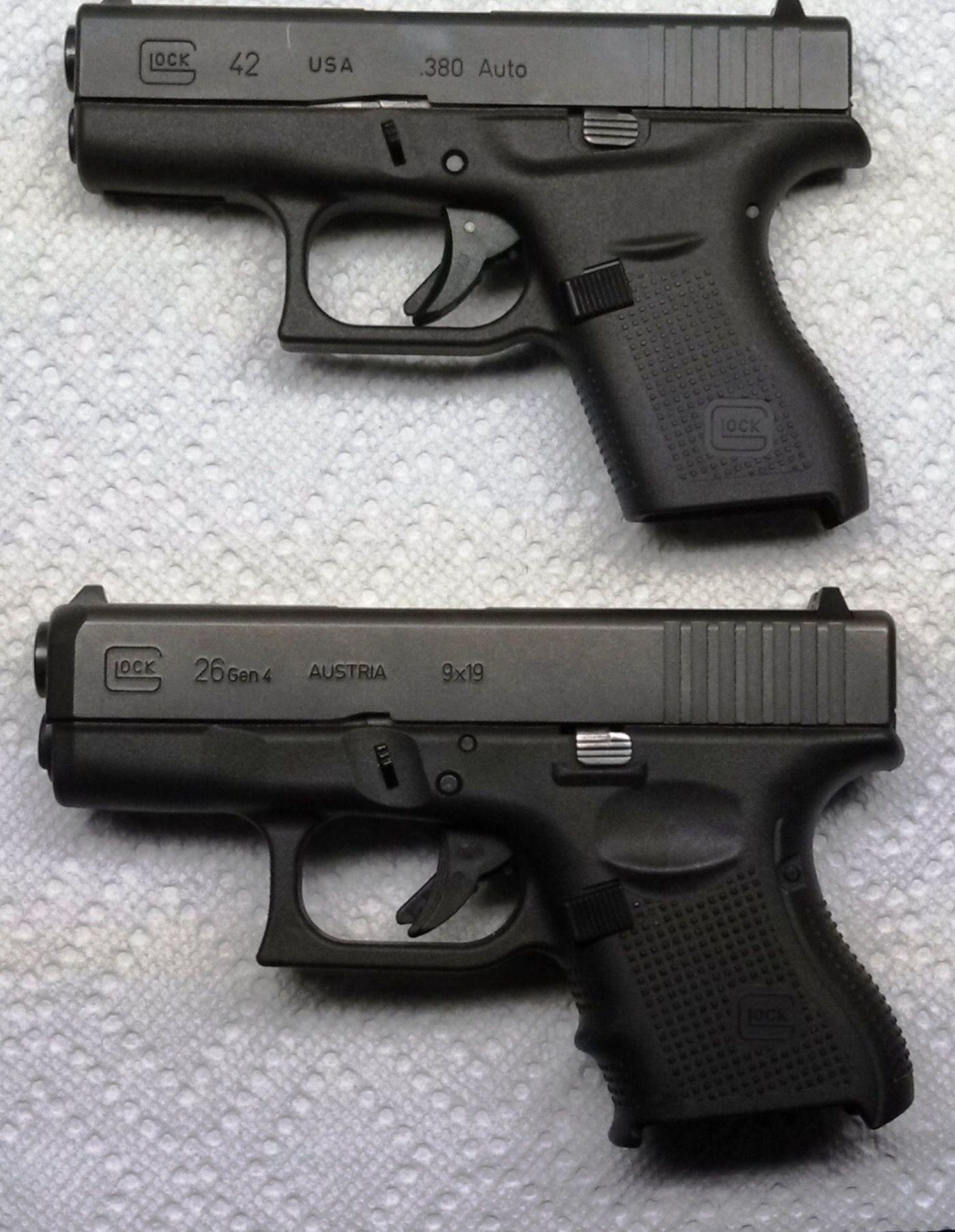 Glock 42 vs Glock 26