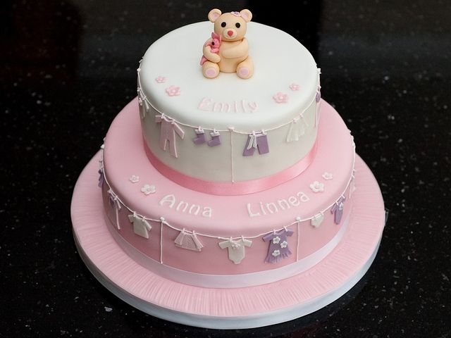 Emily's Christening Cake   Flickr - Photo Sharing!