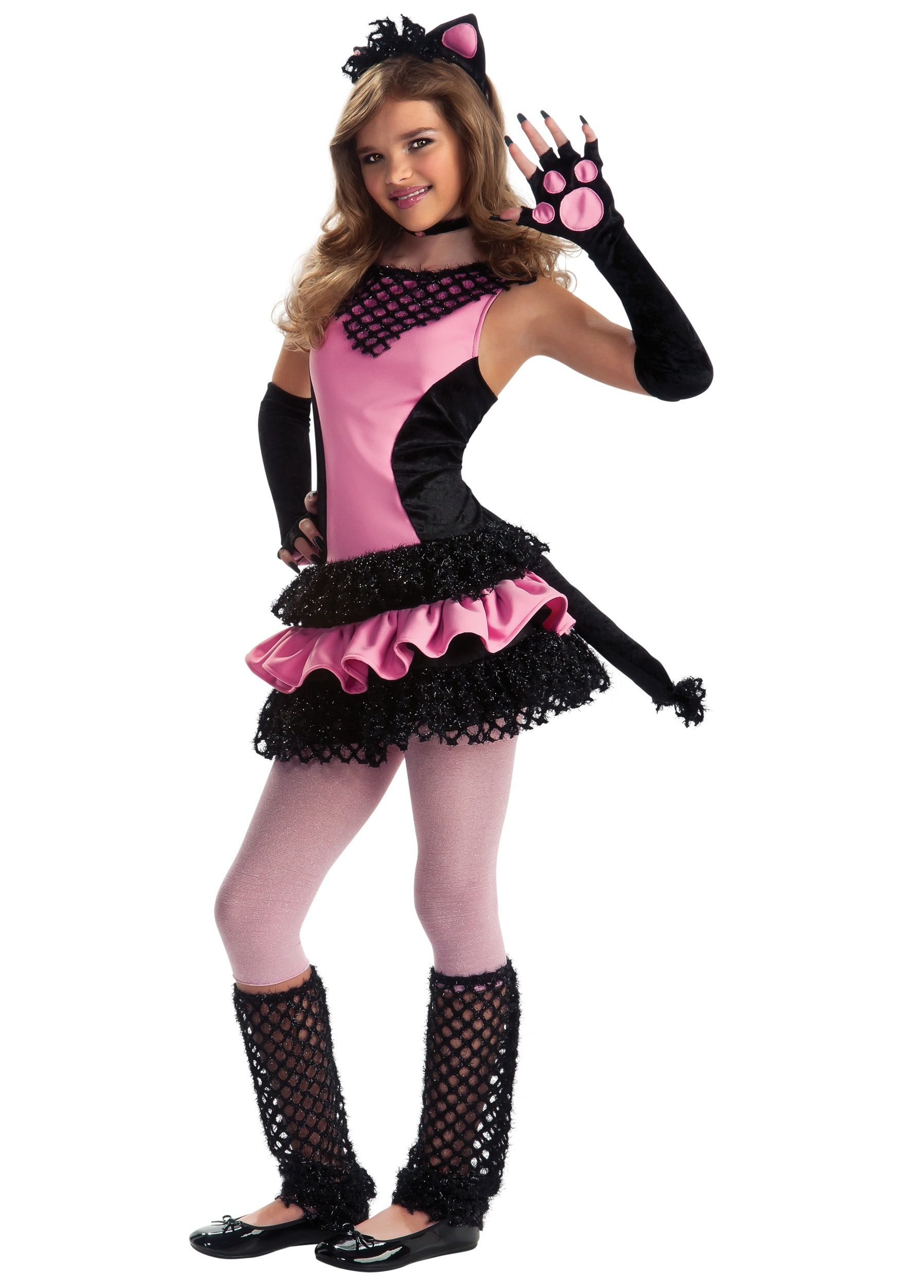 Tween black kitty costume halloween fun pinterest for Cool halloween costumes for kids girls