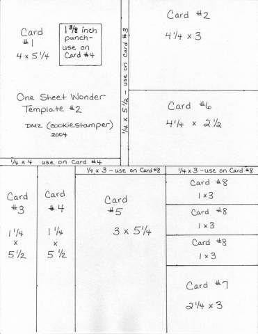 One Sheet Wonder cutting templates templates, 1CW, Starburst