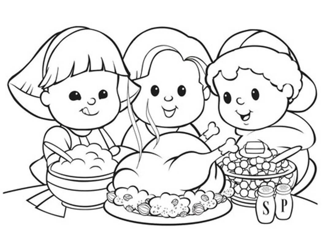 Thanksgiving Coloring Pages For Children