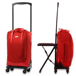 Wheelie bags just got better. They are now also chairs and desks ...