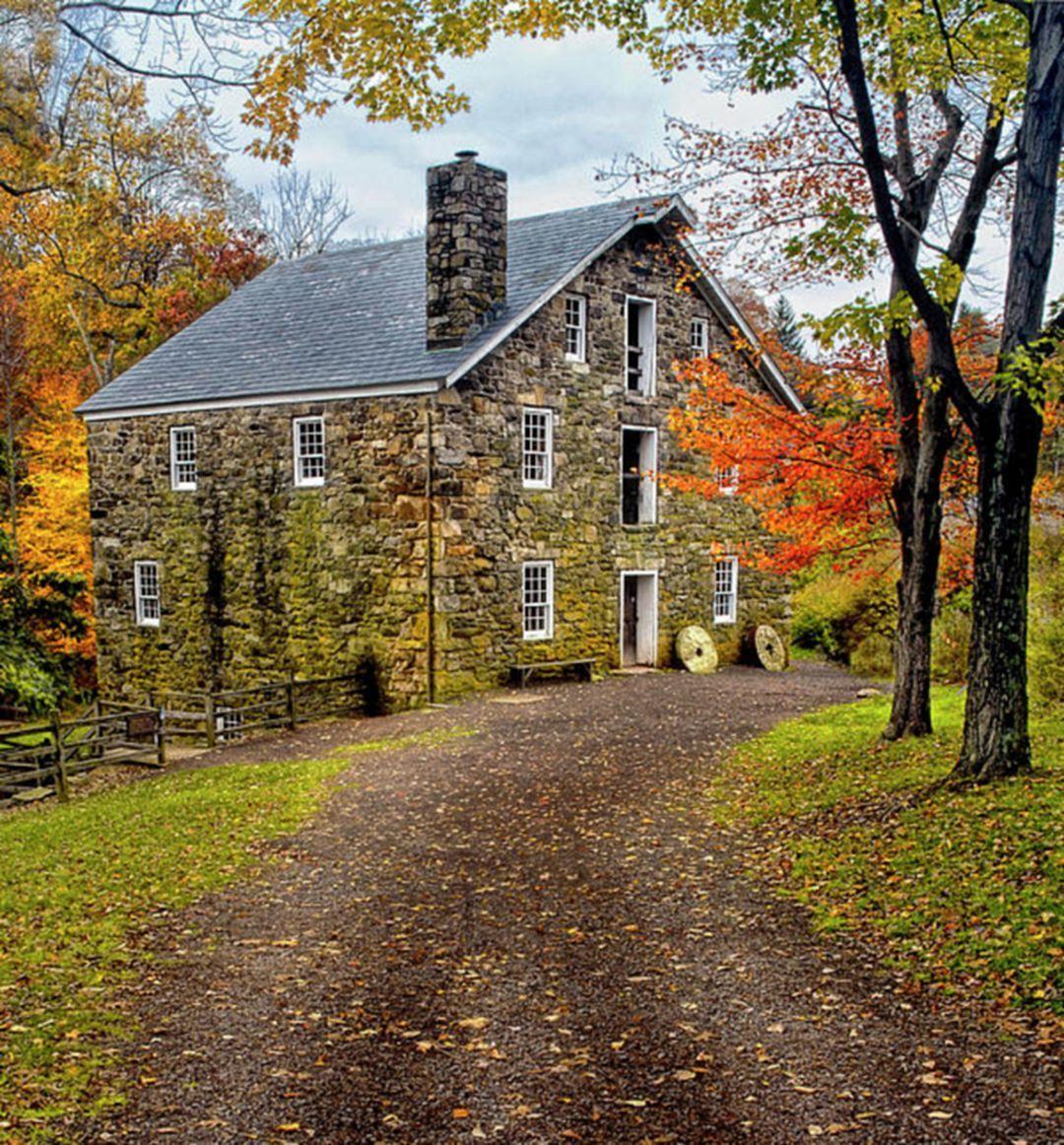 25 Beautiful Stone House Design Ideas On A Budget Old Stone Houses Stone House Stone Houses