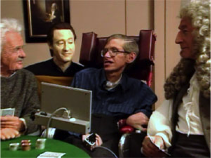 Image result for stephen hawking star trek