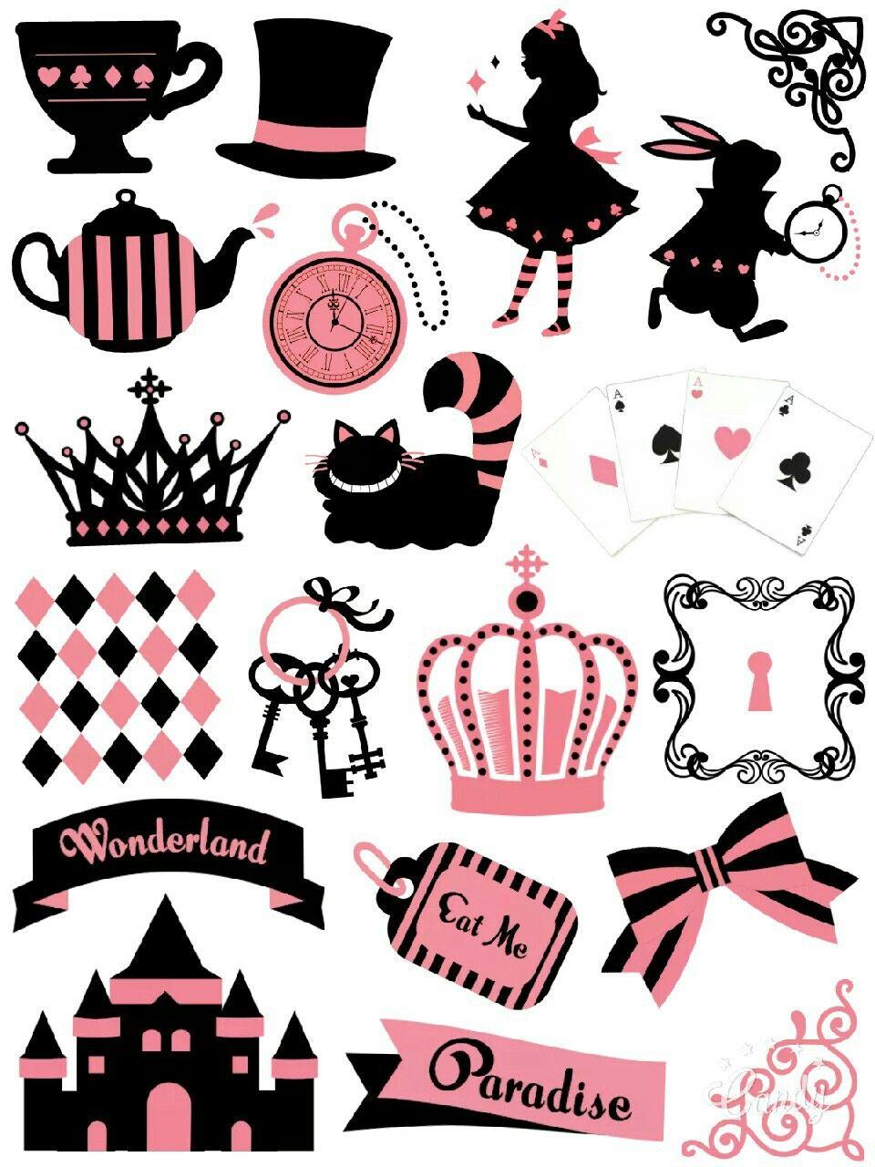 Alice In Wonderland Sticker Printable Sticker Printable