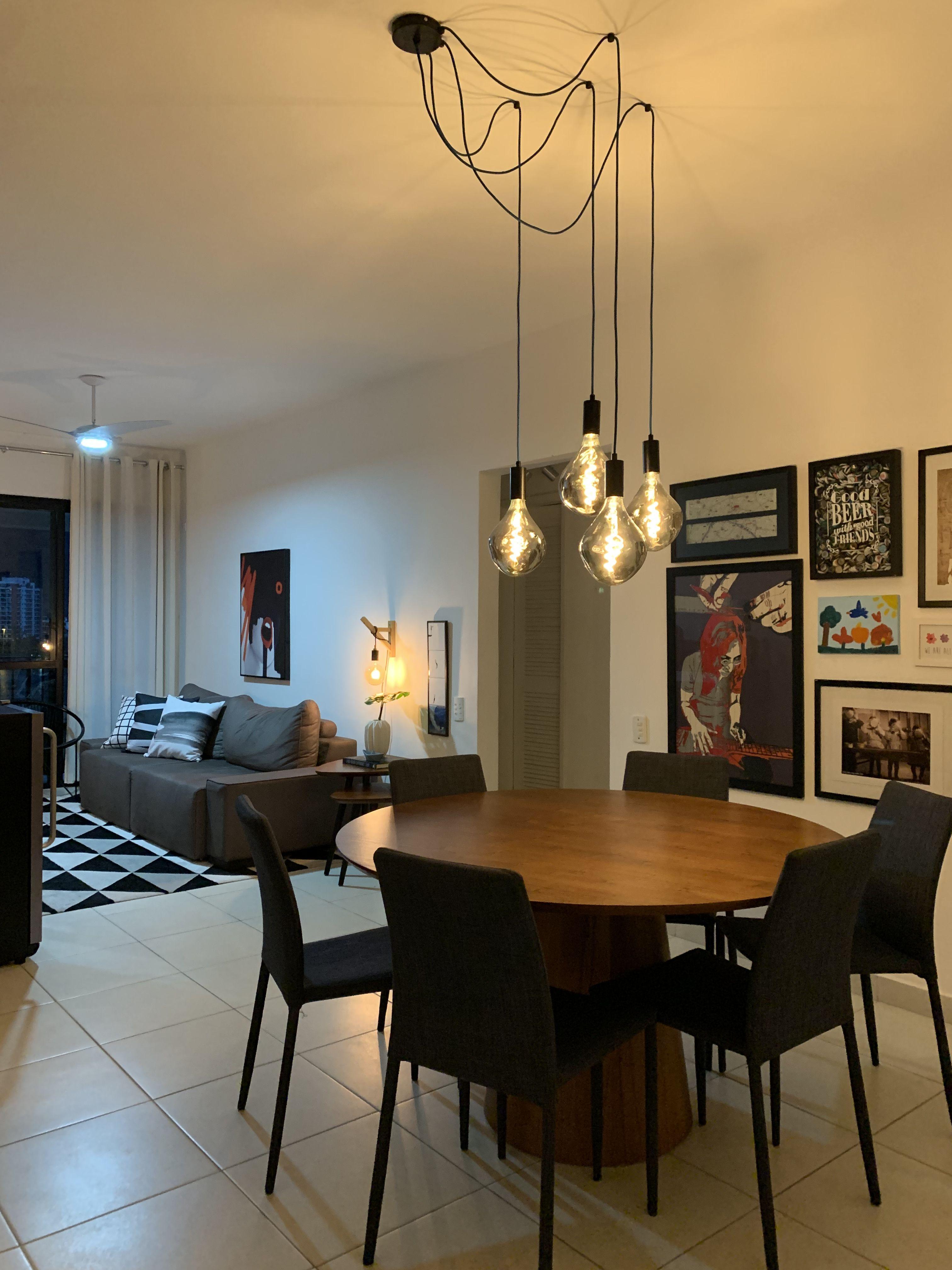 Luminária de teto Pendente Sala de jantar Creative Lamps | Iluminação da  sala de jantar, Pendente sala de jantar, Lustre sala de jantar
