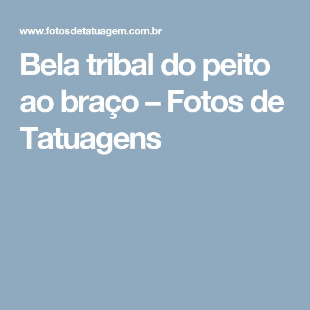 Bela tribal do peito ao braço – Fotos de Tatuagens