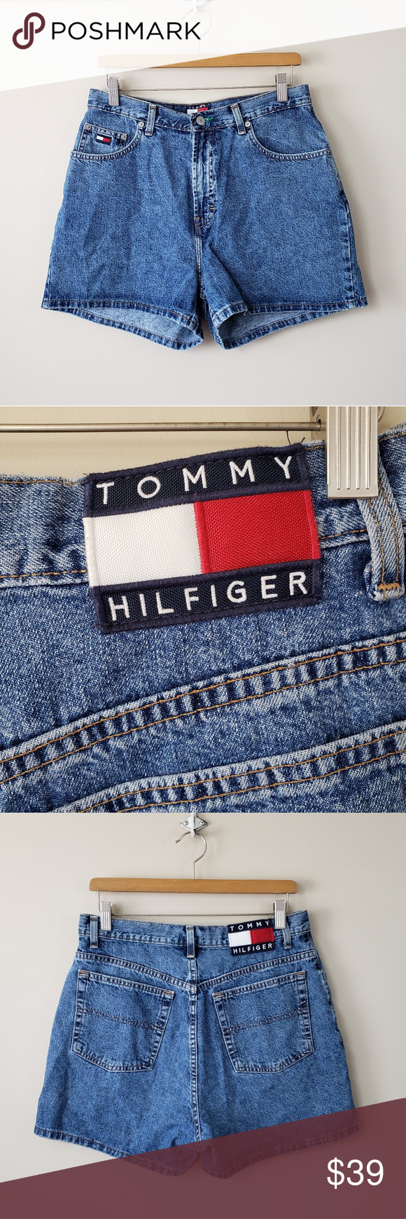 f0e578c3 Vintage Tommy Hilfiger High Waisted Mom Shorts Vintage 90s Tommy Hilfiger  High Waisted Mom Jean Shorts