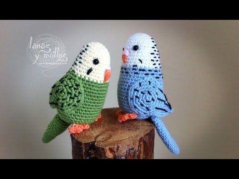 Amigurumi Bird Tutorial : Tutorial periquito amigurumi parakeet english subtitles