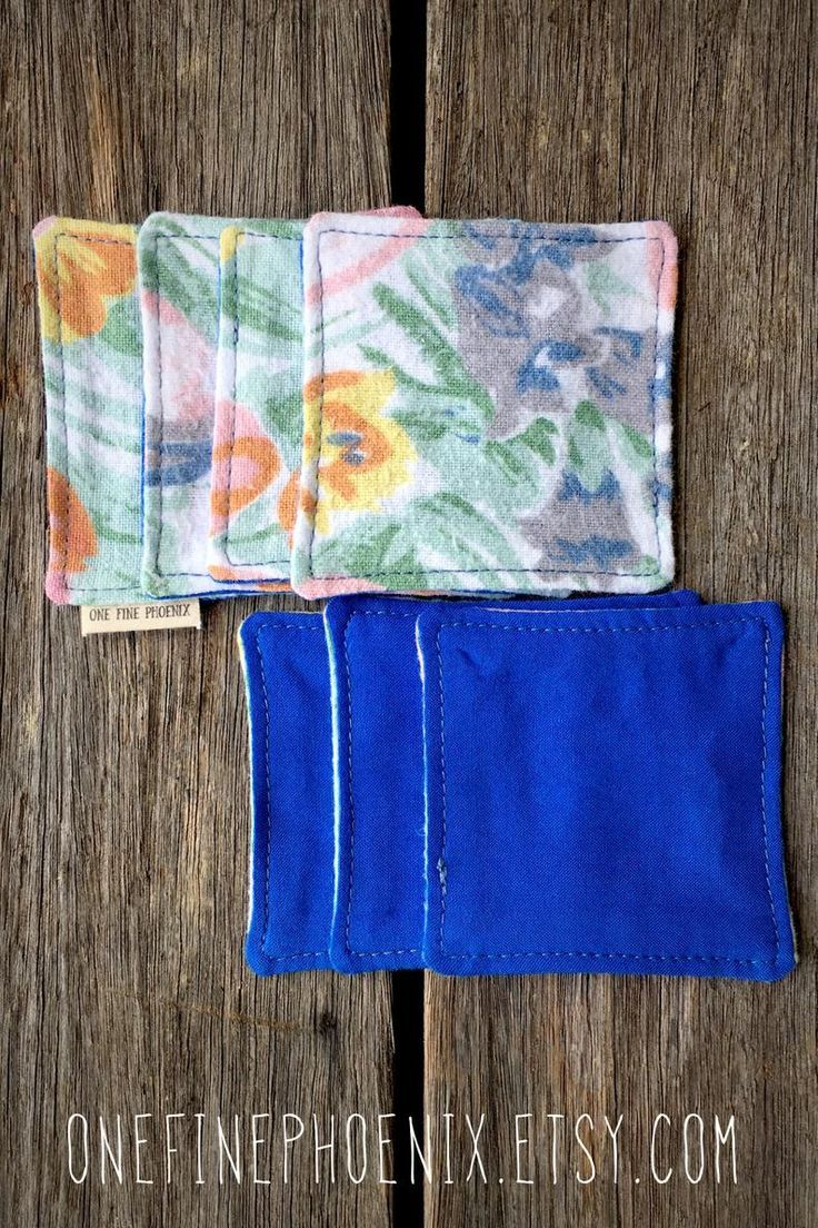 Floral eco friendly makeup removal wipes Upcycled
