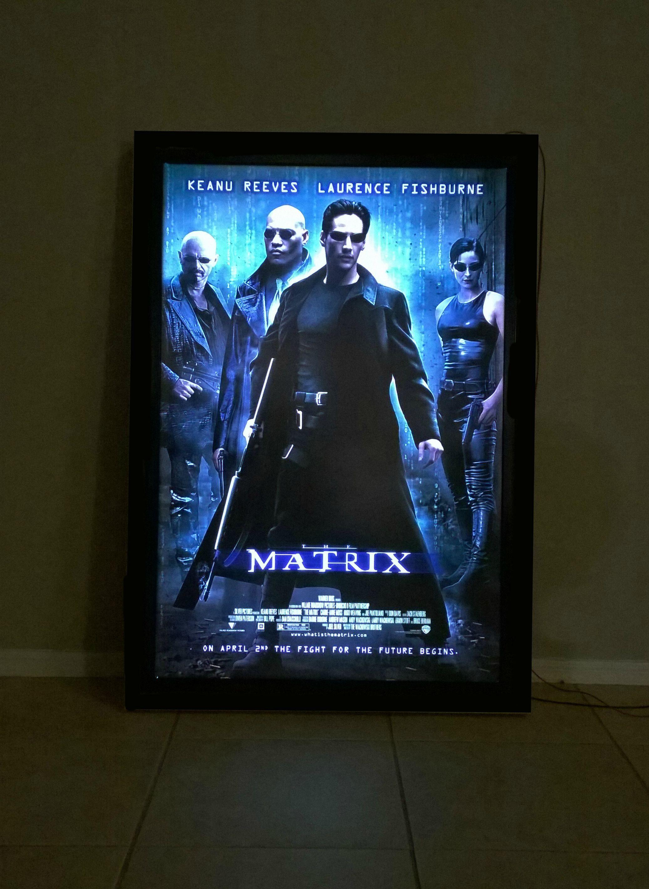 led movie poster light box movie room