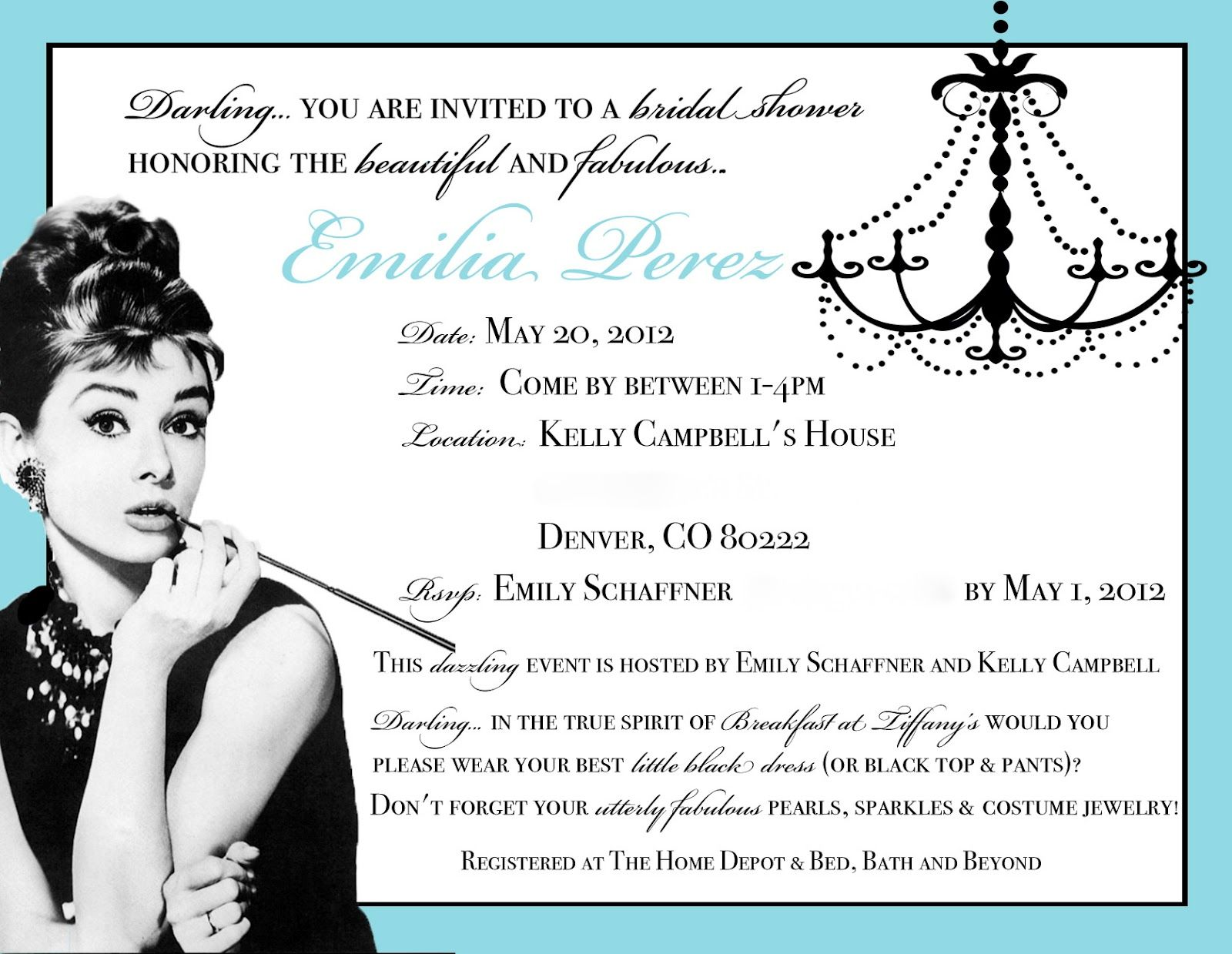 Collection of thousands of Bridal Shower Invitation Template from ...
