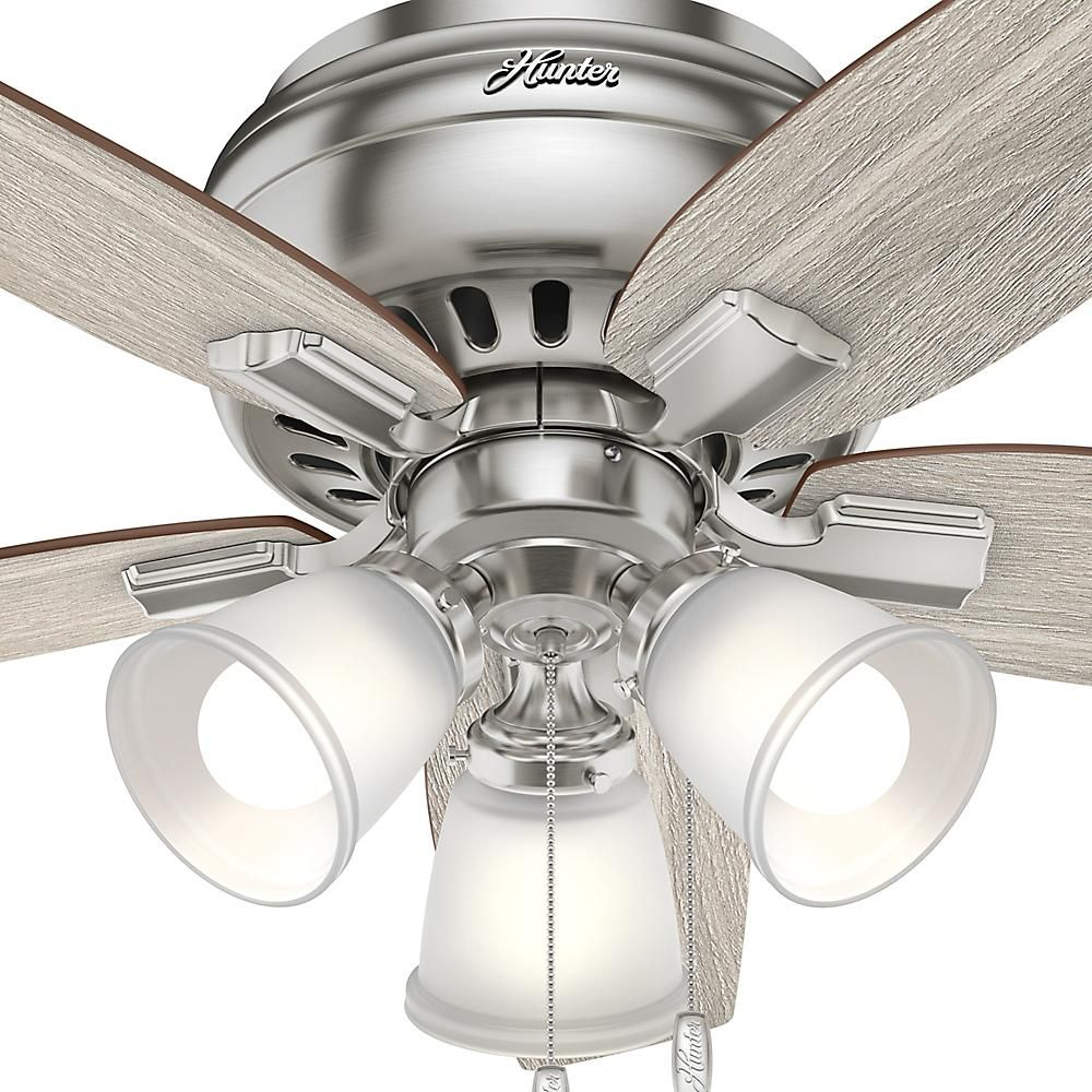 Brushed Nickel Flush Mount Ceiling Fan