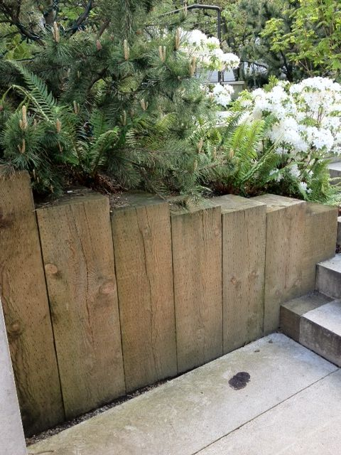 Retaining Wall Bc Law Courts Garden Garden Wall Garden Retaining Wall Wood Retaining Wall