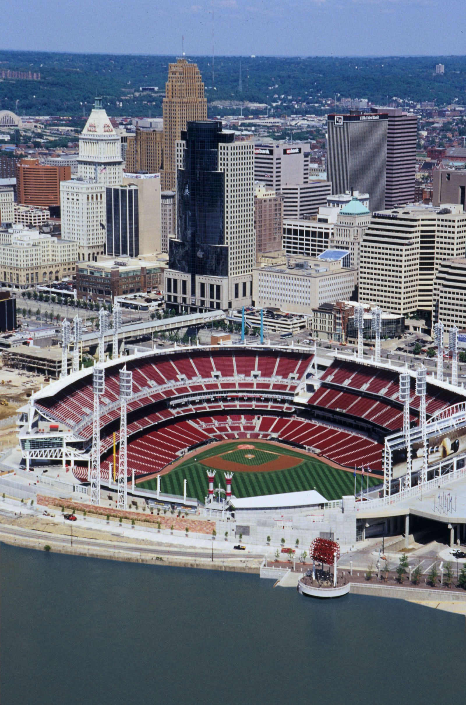 Great American Ballpark Baseball Park Cincinnati Reds Game Mlb Stadiums