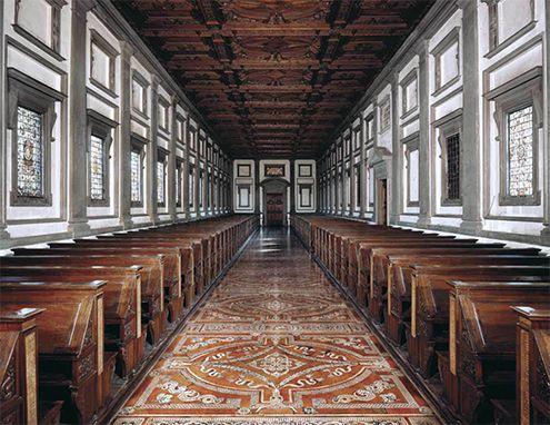 escalera y biblioteca laurenciana italiano cinquecento baslica de san