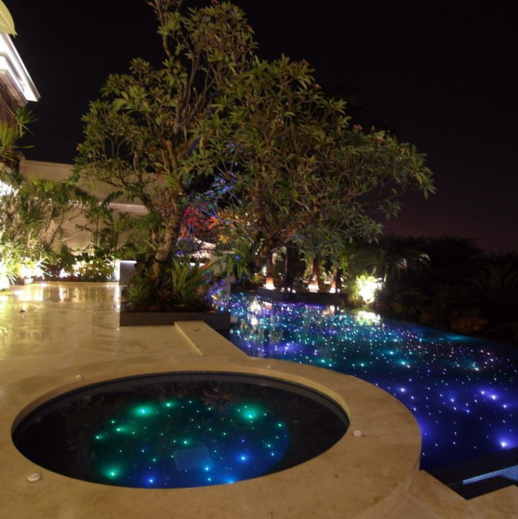 The Lighting Made T Look Like Space D Led Pool Lighting Pool Light Swimming Pool Lights