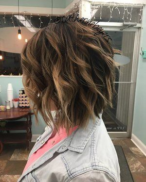 #hairbycatherinebeyers #shatteredbob #texturedcut #blondebalayage #deeproot #handpainted @pravana @brazilianbondbuilder #ilovewhatido @makenzienoelle99 #nofilter