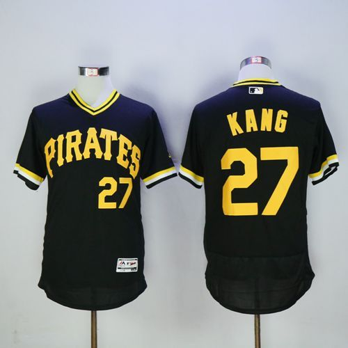 Pirates #27 Jung-ho Kang Black Flexbase Authentic Collection Cooperstown Stitched MLB Jersey