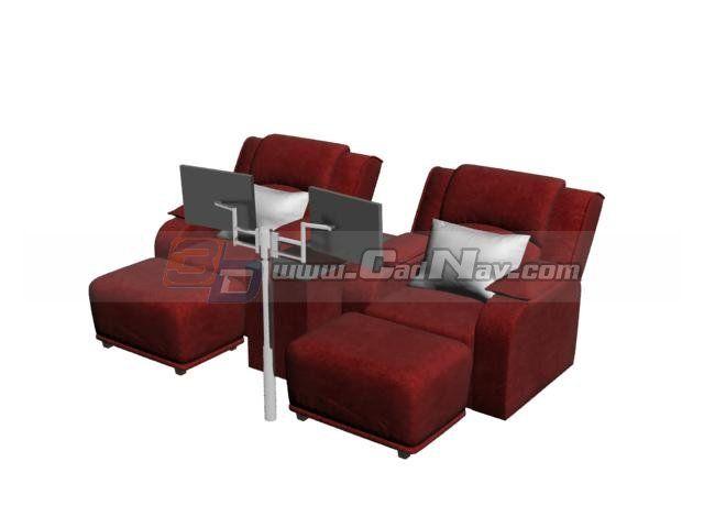 Spa Foot Bath Massage Chairs 3d Model 3DMax Files Free