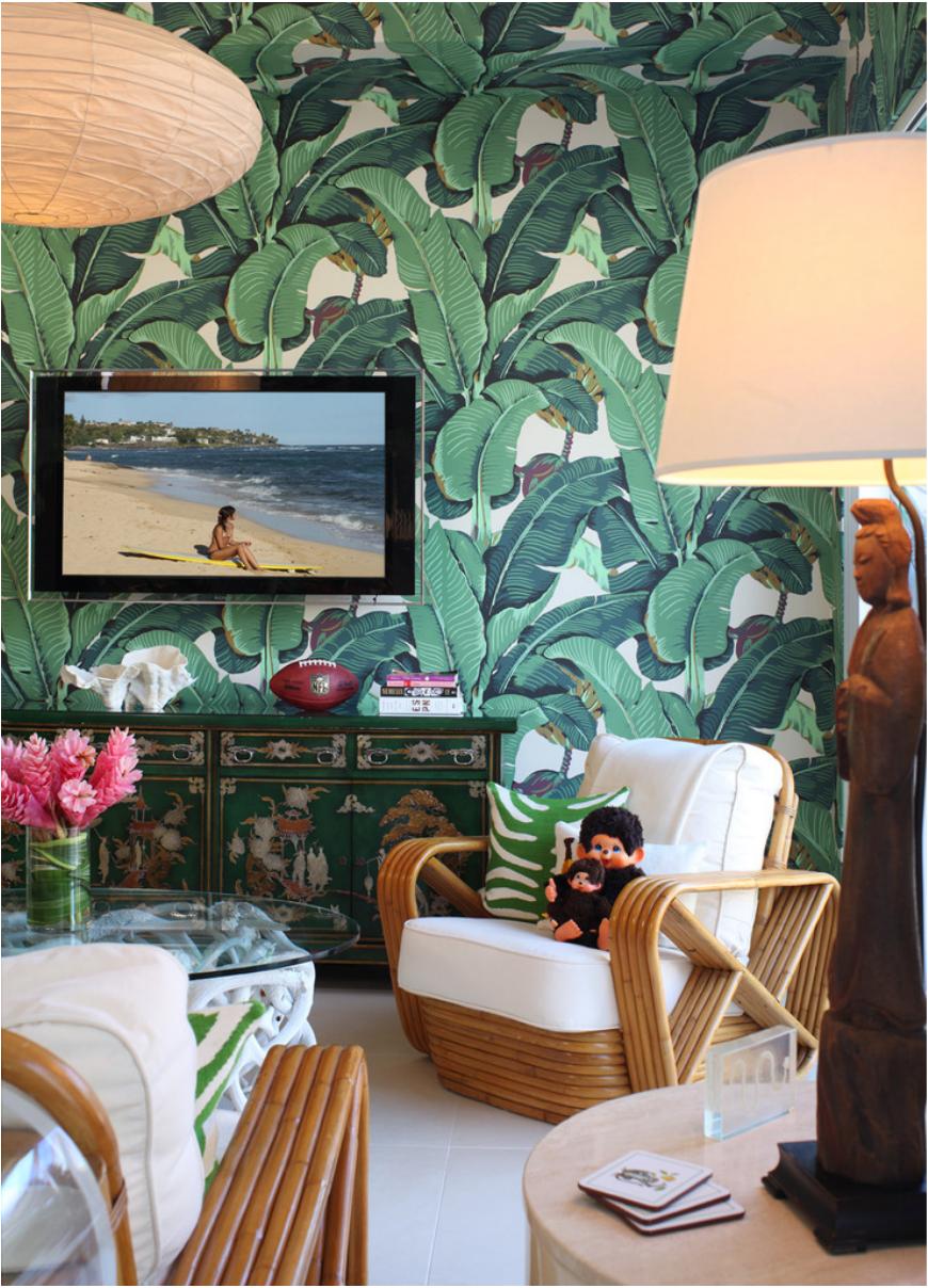 Estilo Tropical Con Papel Pintado La Jungla En Casa Wallpaper