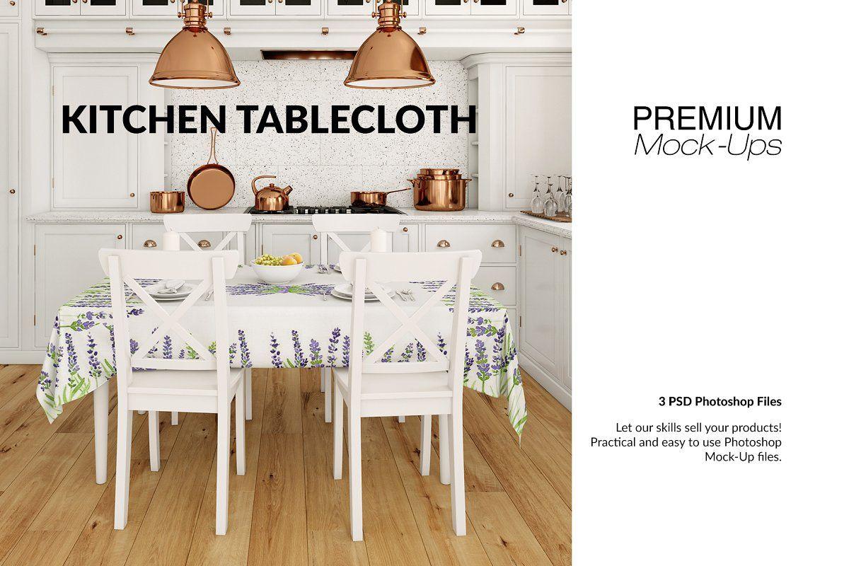 Tablecloth Kitchen Mockup Set Mockup Free Psd Table Cloth Mockup