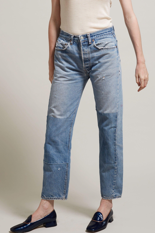 B Sides Patchwork Jean 3 Pants